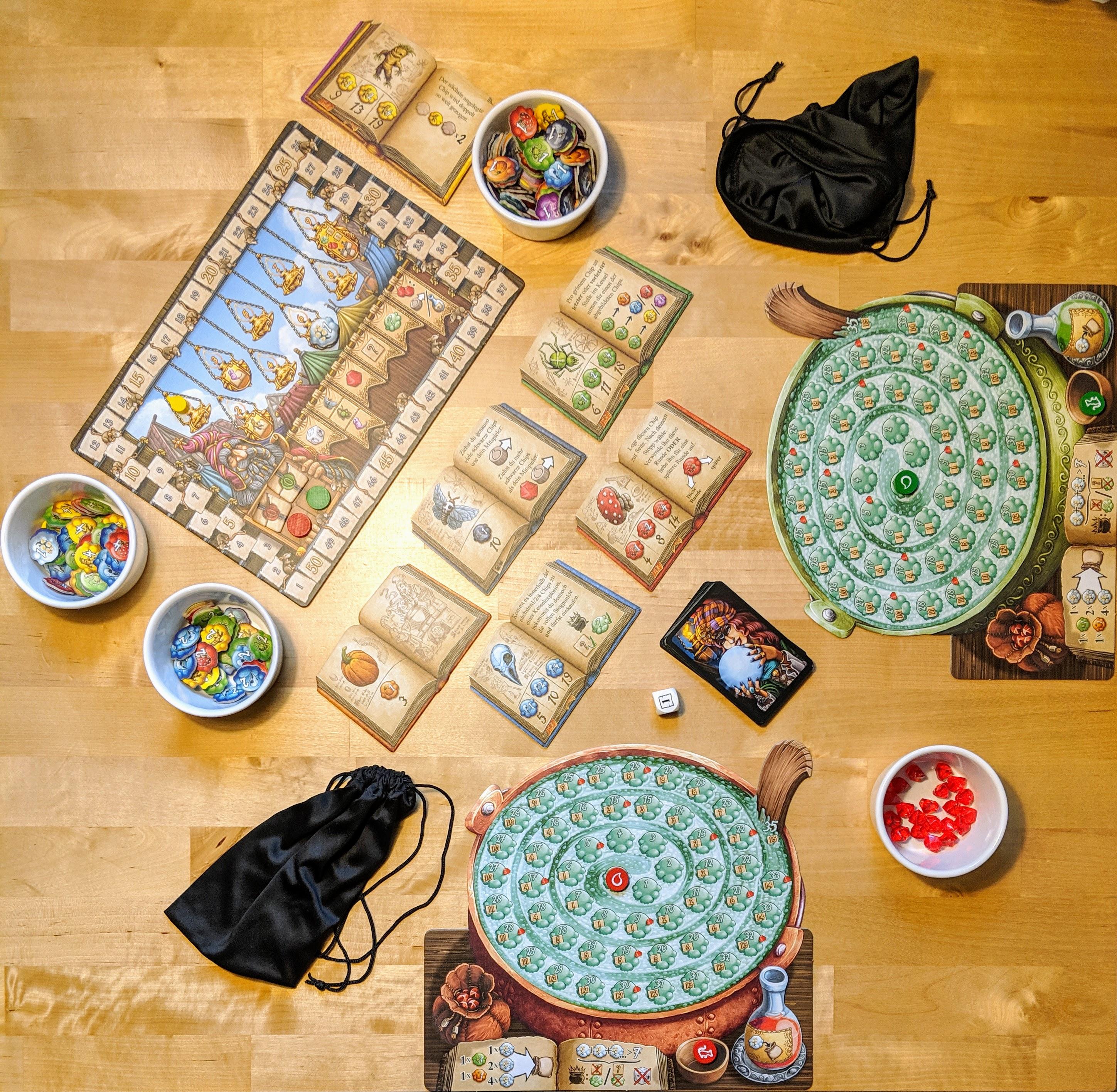 Die Quacksalber von Quedlinburg - Aufbau für 2 Spieler